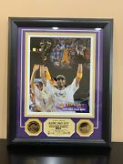 Kobe Bryant 24kt Gold Plated Medallions And Picture