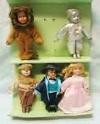 Lot Of 5 Seymour Mann Porcelain Wizard Of Oz Storybook Tiny Tots Dolls Ornaments