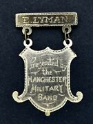 1900 Wwi Era Manchester Military Band 14k Solid Gold Medal Connecticut Ontario
