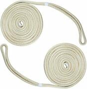 2-pack 1/2 Inch 15 Ft Double Braid Nylon Dock Line Mooring Rope Boat Anchor Line
