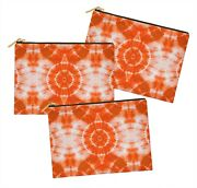 S4sassy Tie-dye 3 Pcsmakeup Cosmetic Bag Coin Purse Toiletry Organizer-td-6g