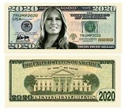 Pack Of 50 - Melania Trump 2020 Re-election Presidential Dollar Bill - Limite...
