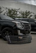Cadillac Escalade Grille Grill And Hood Trim Black Color Oem 2015i -2020 Black Out