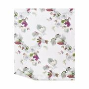 Riviera By Yves Delorme, Cotton Sateen Flat Sheet, Floral Print, Made In France
