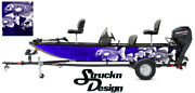 Graphic Crappie Fishing Bass Fish Boat Wrap Blue Black Decal Us Vinyl Skeletons