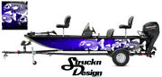Crappie Fishing Bass Fish Boat Wrap Blue Black Decal Us Vinyl Skeletons Graphic