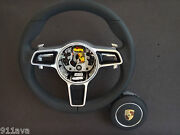 991 - 997.2 Pdk New Style Gt 3 Rs Black Leather Steering Wheel With New A - Bag