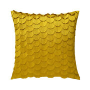 Ombelle Decorative Pillow By Yves Delorme, Pleated Fans Design