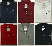 Hollister Hco Womens 3-button Stretch Polo Shirt Logo Xs S M L Xl New With Tags