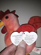 Strut The Rooster Beani Baby Super Rare Look At The Tag...very Good Condition