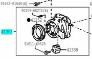 Toyota 41303-28013 Electro Magnetic Control Coupling Sub Assy Genuine Parts