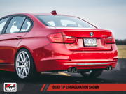Awe Tuning Touring Axle-back Exhaust Quad Chrome Tips 80mm For 12-16 Bmw 328i