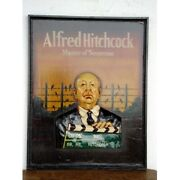 Extremely Rare Alfred Hitchcock Birds Big Old Antique 3d Wooden Horror Sign