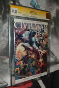 Civil War 7 Cgc 9.8 Ss Michael Turner Rare Variant Cover White Pages