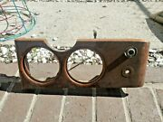 Jaguar Mark X 10 Dashboard Center Console Wood With Light And Brackets