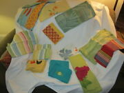 Preowned Lot Of 20 Vintage Tag Brand Assorted Colorful Kitchen Dish Towels