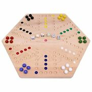 Maple Wood Hand-painted 20 Wide Aggravation Board Game Double-sided