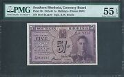 Southern Rhodesia 5 Shillings P8b 1945 Pmg 55 Epq About Uncirculated