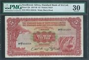 Southwest Africa Andpound5 P12b Standard Bank 15th Oct 1958 Pmg 30 Very Very Rare