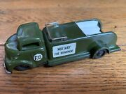 Vintage Linemar Tin Toys, Military Fire Department Friction Army Vehicle