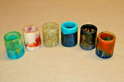 Shot Glasses Lot Unique Colorful Resin Pour Art Hand Made Cool Gift C Box Wq