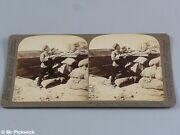Trench Antique Stereograph Military Related Cards Port Arthur Russian Japan War
