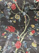Vintage 1984 G P And J Baker Polished Cotton Floral Chintz Fabric 44 X 56 Tree
