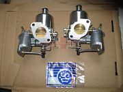 Pair Of Genuine Su Carburetors Hs4 1 1/2 For Mgb Completely New Made In The Uk