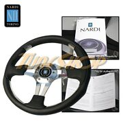 Italy Nardi Nd 4 Metal 350 Mm Steering Wheel Black Leather/chrome 75th Limited