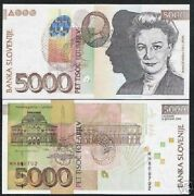 Slovenia 5000 5000 Tolarjev P-33 2004 Euro National Gallery Unc Currency Note
