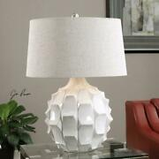 White Guerina Accent Table Lamp 26.5in. In Height Designed By Jim Parsons
