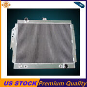 2 Rows Aluminum Radiator Fit 1979-93 Dodge D/w 150 250 350 Ramcharger 5.2 5.9 V8