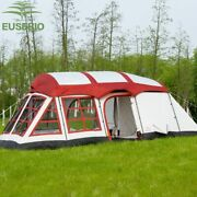 8-12persons Double Layer Outdoor Family Two Bedroomsand One Living Room House Tent