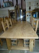 Giant Shaker Style Table In English Elm And Oak