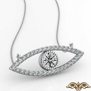 Evil Eye Womenand039s Diamond Gold Pendant Necklace18 Inch Rolo Chain 0.31 Ct.