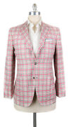 New 7500 Kiton Pink Cashmere Blend Check Sportcoat - 38/48 - Ug3306f2211r8