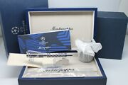 Montegrappa Uefa Champions League Fountain Pen 925 Silver Limited Msrp 3580