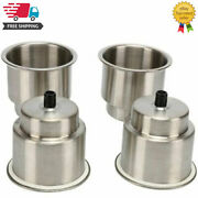4pcs Stainless Steel Cup Holders Recessedboat Stainless Drink Holder With Drain