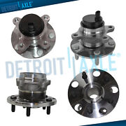 Front + Rear Wheel Hub And Bearing For 2006-2013 Lexus Is250 Is350 Gs460 Gs430 Rwd
