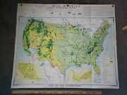 Vintage 1949 Denoyer-geppert Map Wa30 Land Use And Conservation Usa Made Great