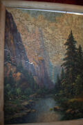 Rare Vintage Wooden Jigsaw Puzzle By Waterfall 190 Pieces