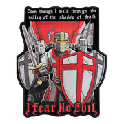 Knights Of Templar Fear No Evil Patch, Biker Back Patches