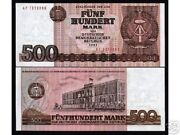 Germany East 500 Marks P33 1985 Dove Hammer Compass Unc Money Ddr Bill Bank Note