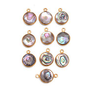 Gold Platted Silver Bezel Freshwater Pearl Pendant Gemstone Suppliers Finding
