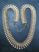 Vintage 9ct Gold Fancy Cleopatra Link Necklace Chain 16 Inch C.1990