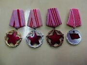 Albania 3 Orders + Medal. Good Service In State And Society. Rare