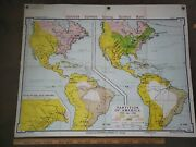 Vintage 1967 Denoyer-geppert Socialscience Map A 6 Partition Of America Usa Made