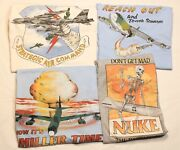4 Vintage 1980s Usaf Tee Shirts Skulls Bombs Airplanes Xl Mens Miller Time Nukes