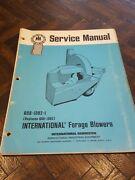 1974 International Forage Blower Service Manual Ih Pto Drive Train Auger Rotor
