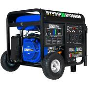 Duromax 13000-w Portable Hybrid Dual Fuel Powered Generator With Electric Start